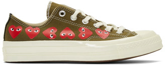 Comme des Garcons Khaki Converse Edition Multiple Hearts Chuck 70 Low Sneakers