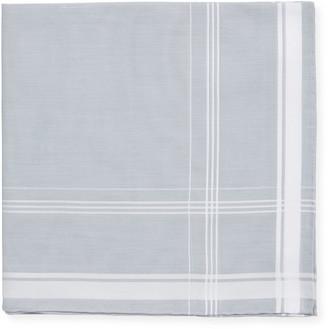 Simonnot Godard Satin-Edge Cotton Pocket Square, Gray/White