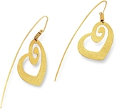 Stefano Patriarchi Golden Silver Etched Heart Drop Earrings