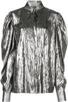 Michael Kors Puff Sleeve Metallic Shirt