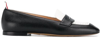 Thom Browne Panelled Pebbled Penny Loafers