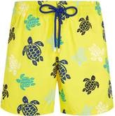 Vilebrequin Turtles Moorea Swim Shorts, Yellow, XXL