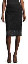 T Tahari Carolina Lace Pencil Skirt