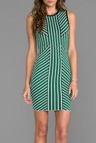 Torn By Ronny Kobo Vertical Stripe Dress