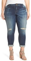 KUT from the Kloth Plus Size Women's 'Catherine' Ripped Boyfriend Jeans