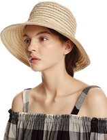 Aqua Metallic Ribbon Floppy Sun Hat - 100% Exclusive