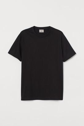 H&M Pima Cotton T-shirt - Black