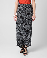 Le Château Printed Jersey Maxi Skirt