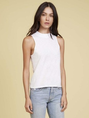 Nation Ltd. The Bria Mock Neck Tank In White - M