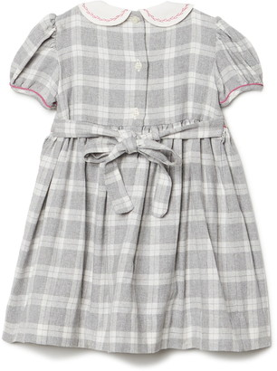 Carriage Boutique Peter Pan Collar Smocked Plaid Day Dress