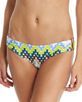 Milly Elba Chevron-Printed Swim Bottom