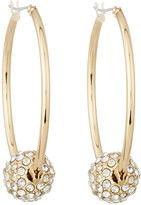 Lydell NYC Fireball Hoop Earrings, Gold