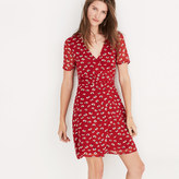Madewell Wrap-Front Mini Dress in Seattle Floral
