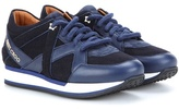 Jimmy Choo Felt And Leather Sneakers
