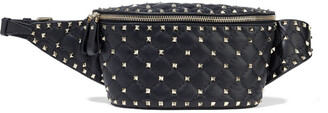 Valentino Rockstud Spike Quilted Leather Belt Bag