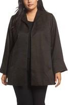 Eileen Fisher Plus Size Women's Silk Blend Jacquard Jacket