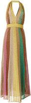 M Missoni halterneck metallic long dress - women - Cotton/Polyamide/Polyester - 40