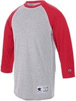 Champion Adult Raglan Baseball T-Shirt (White/Forest Green)