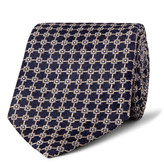 Dunhill - 8.5cm Mulberry Silk-jacquard Tie