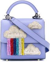 Les Petits Joueurs clouds appliqué glittery tote