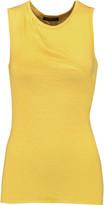Balmain Wrap-effect cotton-jersey top