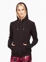 Kate Spade Cozy fleece tab bow hoodie