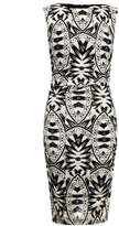 Nicole Miller Lauren Lumen Black and White Printed Jersey Dress