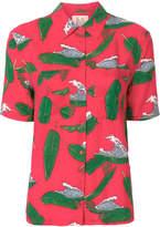 Zoe Karssen wave and palm leaf print shirt