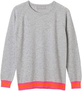 Cove Philly Grey Cashmere Jumper with Neon Stripes