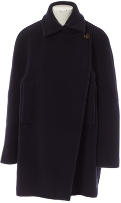 Sportmax Black Wool Coats