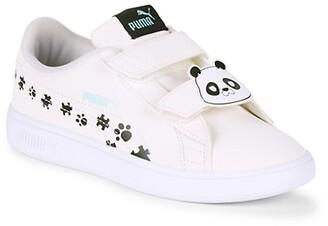 Puma Kid's Smash v2 Floral Sneakers