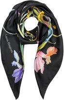 Laura Biagiotti Floral Print Twill Silk Square Scarf