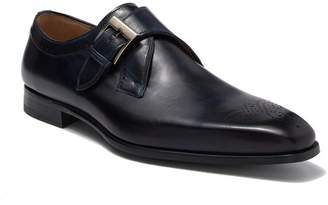 Magnanni Gerausi II Leather Monk Strap Loafer
