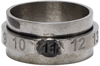 Maison Margiela Silver Juxtaposed Numbers Ring