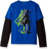 Champion Boys Soccer Graphic Long-Sleeve Tee, M