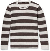 Altea - Striped Linen And Cotton-blend Sweater