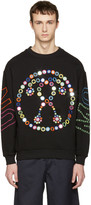 Moschino Black Embroidered Mirror Logo Pullover