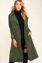 Obey Easy Rider Olive Green Trench Coat