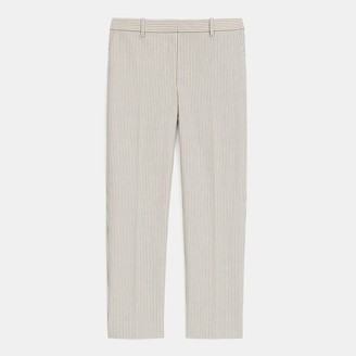 Theory Treeca Pant in Striped Stretch Cotton