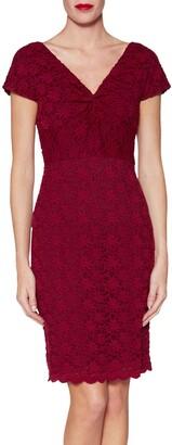 Gina Bacconi Conchita Lace Dress, Wine