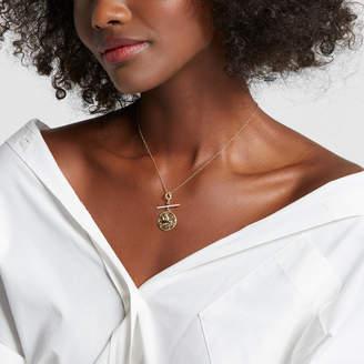 Azlee Pegasus Coin with Diamond Bar Necklace