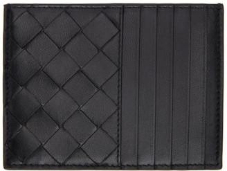 Bottega Veneta Black Intrecciato Zippered Card Holder