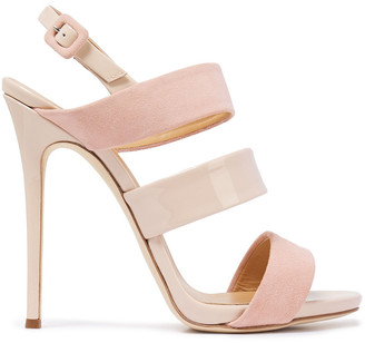 Giuseppe Zanotti Alien 115 Suede And Patent-leather Slingback Sandals