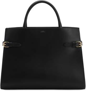 A.P.C. Farrah Smooth Leather Top Handle Bag