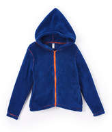 Nano Ink Blue Hooded Fleece Jacket - Infant & Toddler