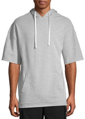 No Boundaries Men's and Big Men's Solid Short Sleeve Hoodie, up to Size 3XL