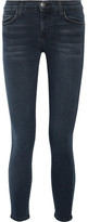 Current/Elliott The Stiletto Mid-rise Skinny Jeans - Dark denim