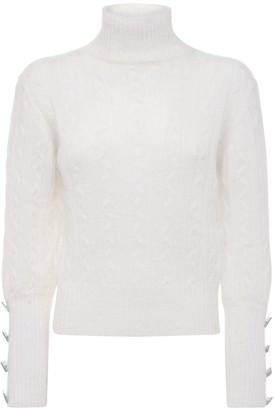 Giuseppe di Morabito Mohair Blend Knit Turtleneck Sweater