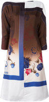 Salvatore Ferragamo floral shift dress - women - Silk/Acetate - 44