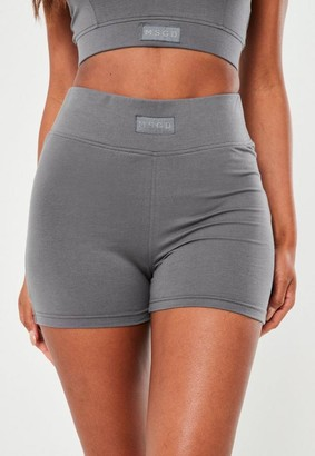 Missguided Gray Msgd Micro Shorts